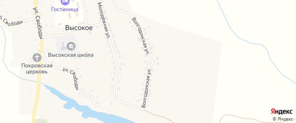 Волгодонская улица на карте Высокого села с номерами домов