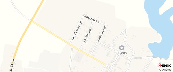 Улица Ленина на карте села Меленска с номерами домов