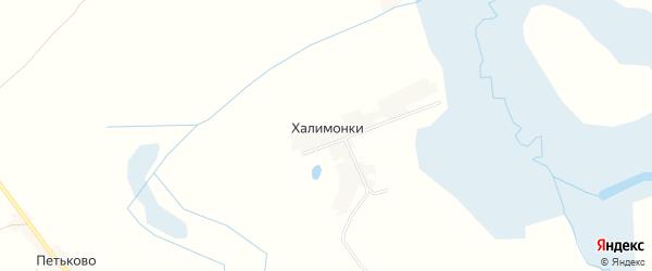 Карта поселка Халимонки в Брянской области с улицами и номерами домов
