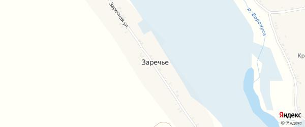 Заречная улица на карте поселка Заречья с номерами домов