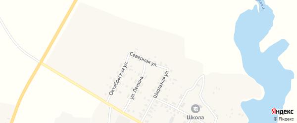 Северная улица на карте села Меленска с номерами домов