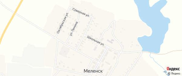 Школьная улица на карте села Меленска с номерами домов