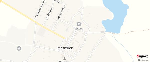 Комсомольская улица на карте села Меленска с номерами домов
