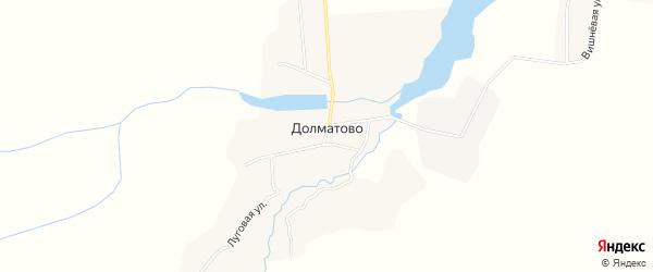 Карта деревни Долматово в Брянской области с улицами и номерами домов