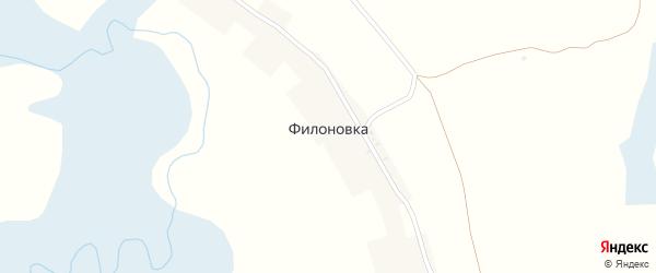 Заречная улица на карте поселка Филоновки с номерами домов