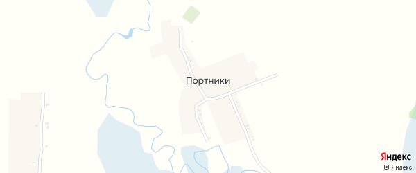 Лесная улица на карте поселка Портники с номерами домов