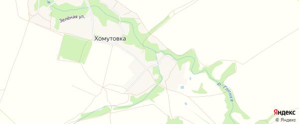 Карта деревни Хомутовки в Брянской области с улицами и номерами домов