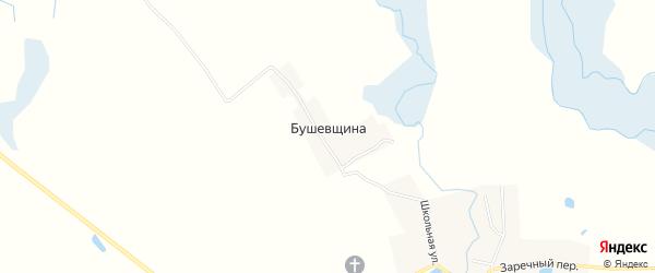 Карта поселка Бушевщины в Брянской области с улицами и номерами домов