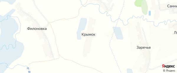 Карта поселка Крымка в Брянской области с улицами и номерами домов