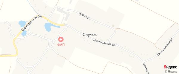 Улица Зеленый Гай на карте деревни Случка с номерами домов