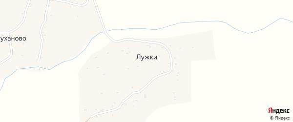 Луговая улица на карте деревни Лужки с номерами домов
