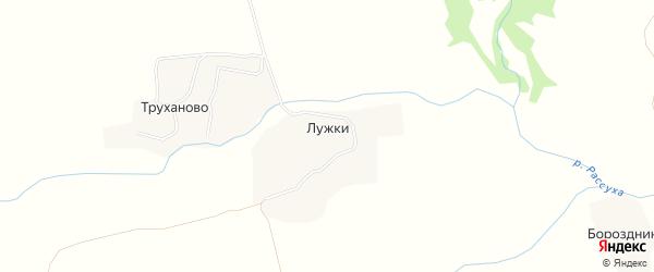 Карта деревни Лужки в Брянской области с улицами и номерами домов