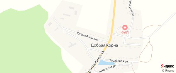 Юбилейный переулок на карте деревни Добраи Корны с номерами домов
