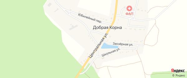 Южный переулок на карте деревни Добраи Корны с номерами домов