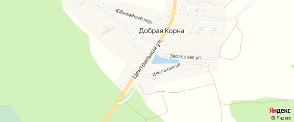 Центральная улица на карте деревни Добраи Корны с номерами домов