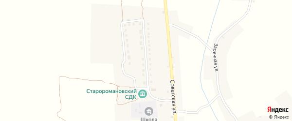 Молодежная улица на карте деревни Старой Романовки с номерами домов