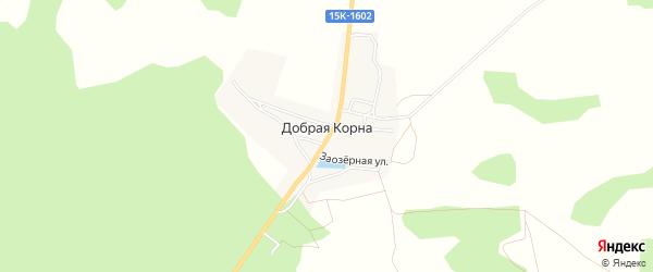 Карта деревни Добраи Корны в Брянской области с улицами и номерами домов