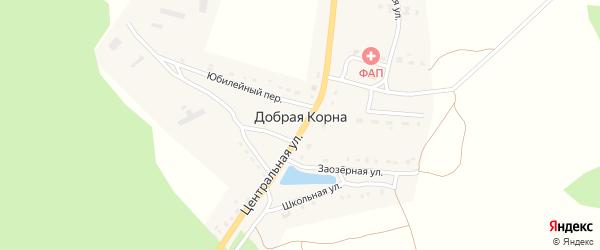 Лесной переулок на карте деревни Добраи Корны с номерами домов