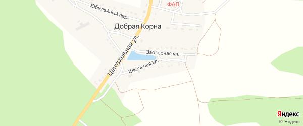 Школьная улица на карте деревни Добраи Корны с номерами домов