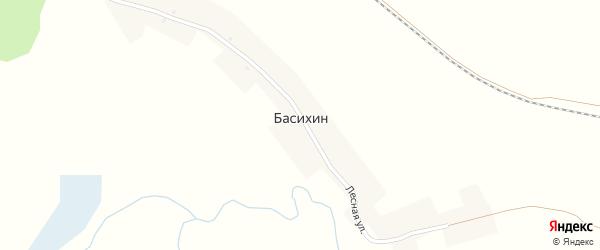 Заречная улица на карте деревни Басихина с номерами домов