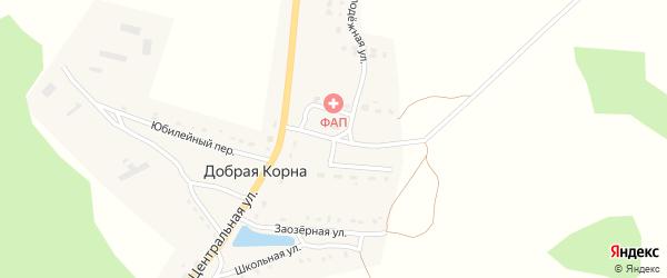 Улица Механизаторов на карте деревни Добраи Корны с номерами домов