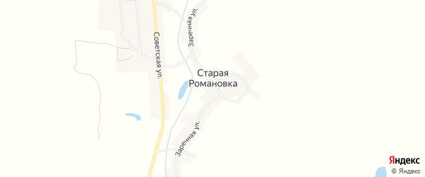 Карта деревни Старой Романовки в Брянской области с улицами и номерами домов