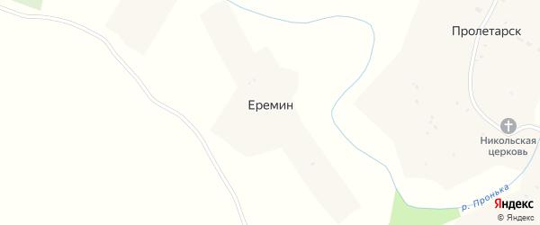 Березовая улица на карте села Еремина с номерами домов