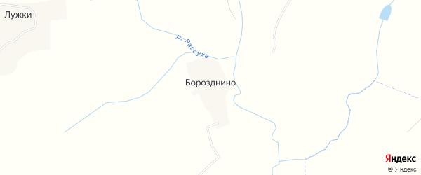 Карта деревни Борозднино в Брянской области с улицами и номерами домов