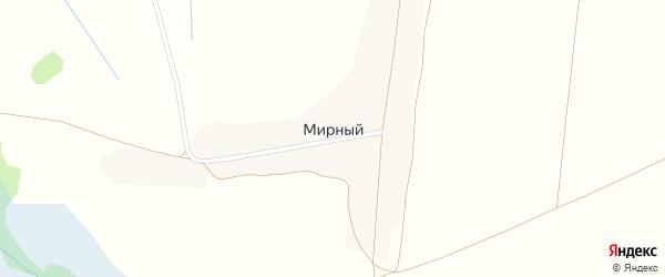 Светлая улица на карте Мирного поселка с номерами домов