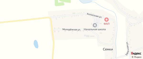 Молодежная улица на карте села Семки с номерами домов