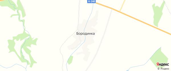 Карта деревни Бородинки в Брянской области с улицами и номерами домов