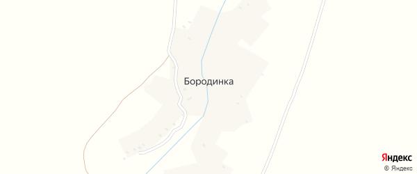 Заречная улица на карте деревни Бородинки с номерами домов