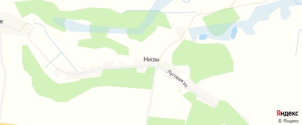 Карта хутора Низов в Брянской области с улицами и номерами домов