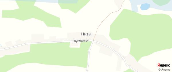 Луговая улица на карте хутора Низов с номерами домов