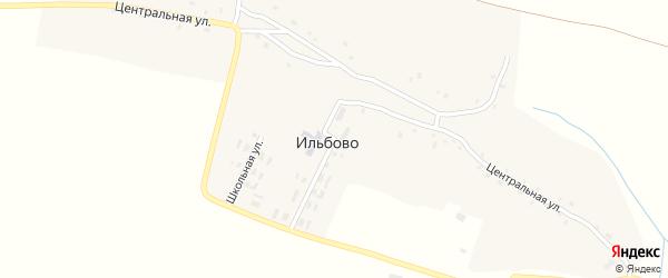 Центральная улица на карте деревни Ильбово с номерами домов
