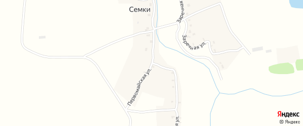 Колхозная улица на карте села Семки с номерами домов