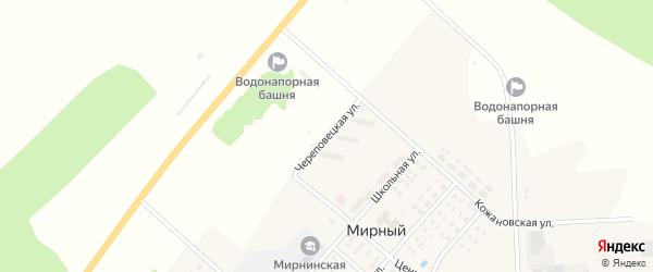 Череповецкая улица на карте Мирного поселка с номерами домов