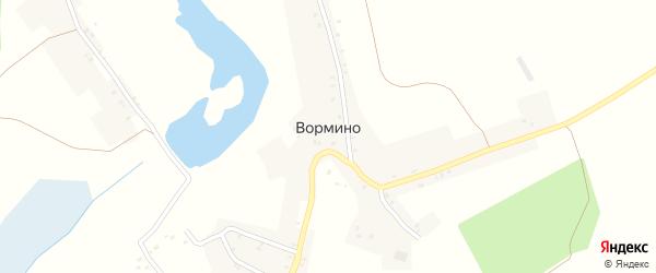Садовая улица на карте села Вормино с номерами домов