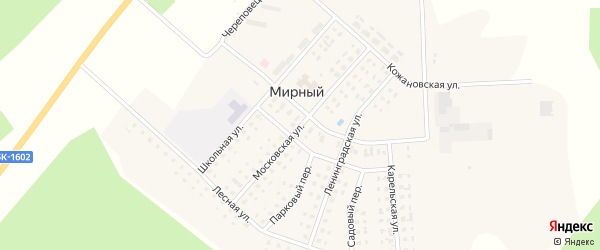 Московская улица на карте Мирного поселка с номерами домов