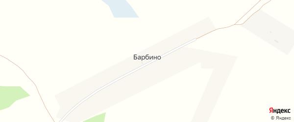 Центральная улица на карте поселка Барбино с номерами домов