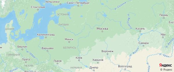 Карта Смоленской области с городами и районами