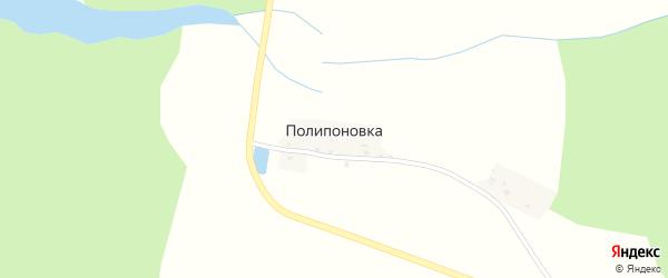 Ключевая улица на карте деревни Полипоновки с номерами домов