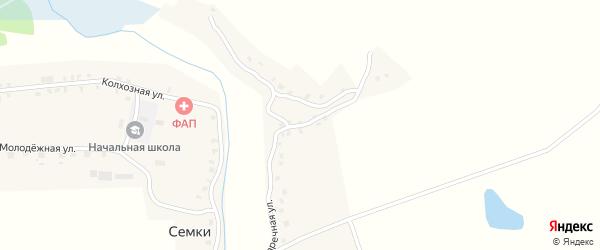 Заречная улица на карте села Семки с номерами домов