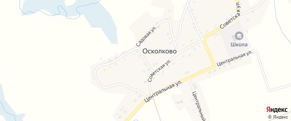 1-й Советский переулок на карте села Осколково с номерами домов