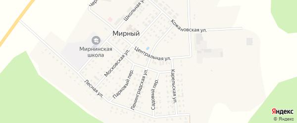 Ленинградская улица на карте Мирного поселка с номерами домов