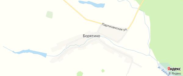 Карта деревни Борятино в Брянской области с улицами и номерами домов