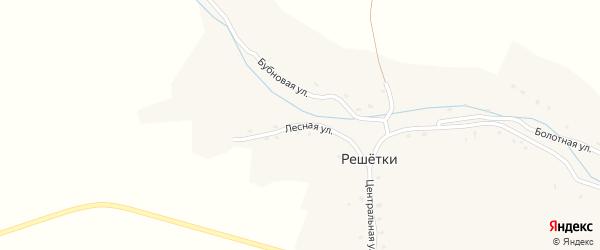 Лесная улица на карте села Решетки с номерами домов