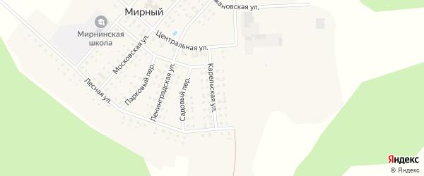 Карельская улица на карте Мирного поселка с номерами домов