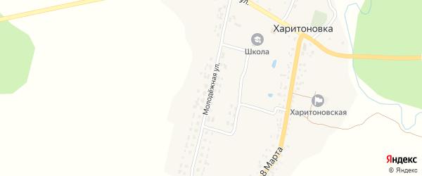 Молодежная улица на карте деревни Харитоновки с номерами домов