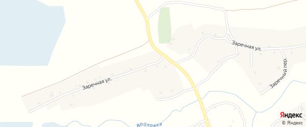 Заречная улица на карте села Осколково с номерами домов